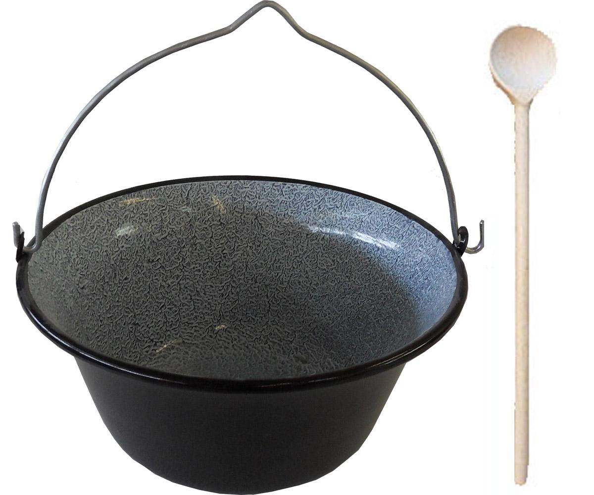 Topf 10L Kessel f Lagerfeuer Feuerstelle, kochen gulasch kessel ...