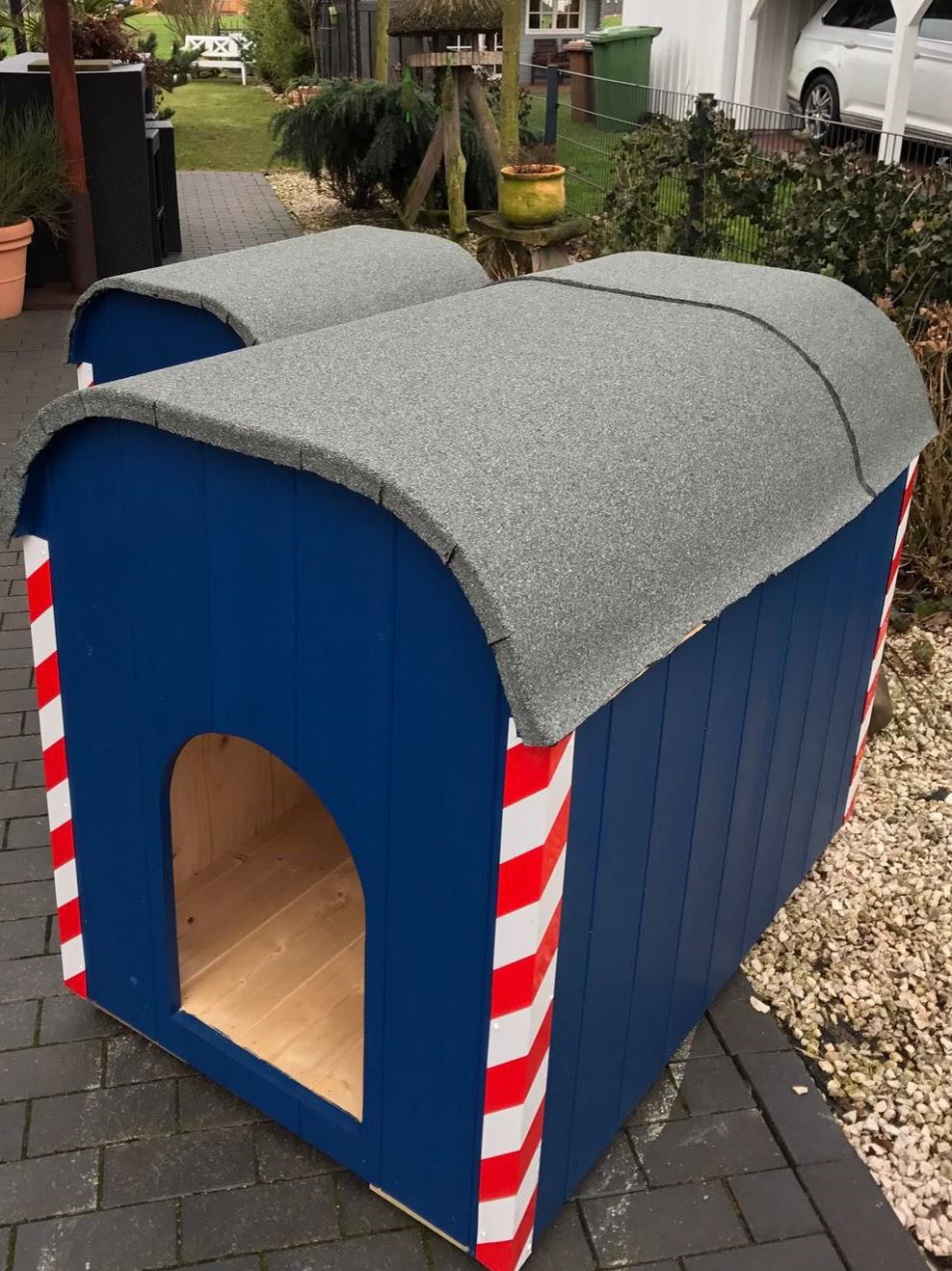 xxl hundeh tte keks bauwagen l wenzahn hundehaus. Black Bedroom Furniture Sets. Home Design Ideas